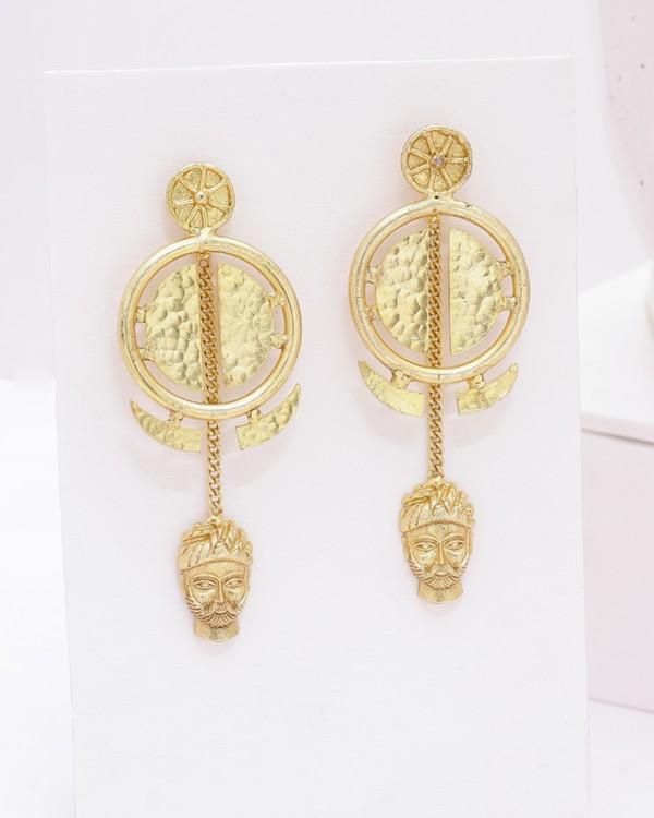 Golden bana charm earrings 2