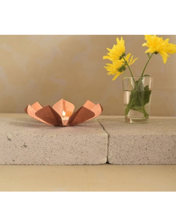 Sepiole copper tea light holder 2