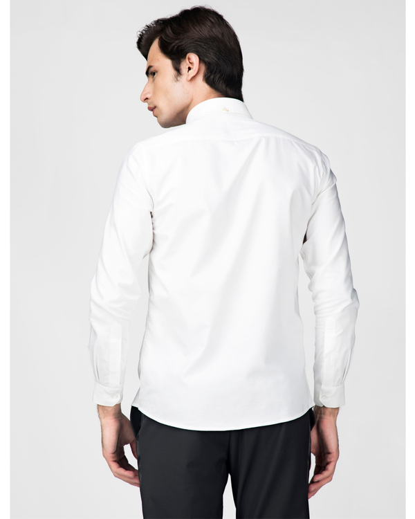 White oxford embroidered shirt 3