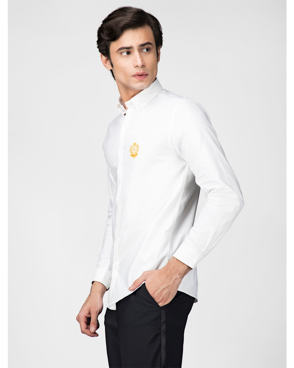 White oxford embroidered shirt 2