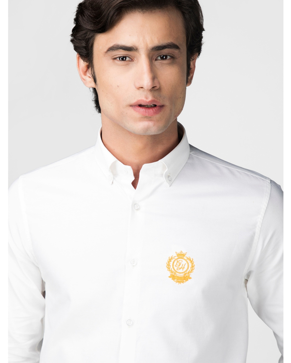 White oxford embroidered shirt 1