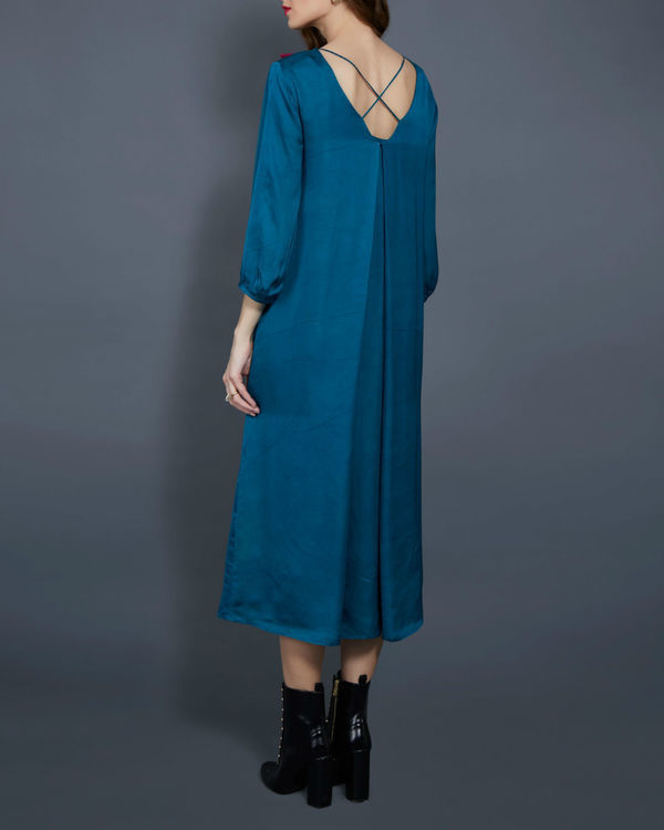 Emerald tunic with embellished neckline 2