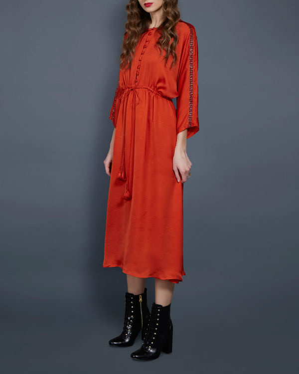 Orange tunic with kimono sleeves 1