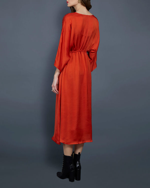 Orange tunic with kimono sleeves 2