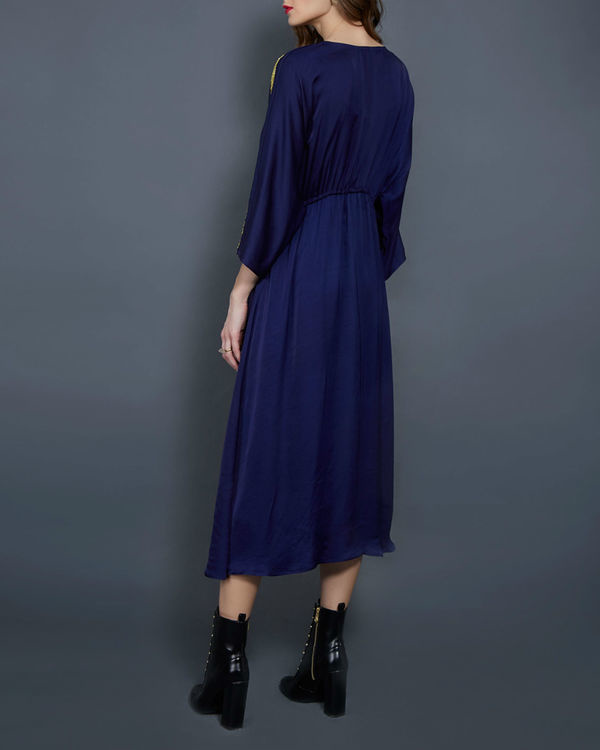 Navy blue tunic with kimono sleeves 2