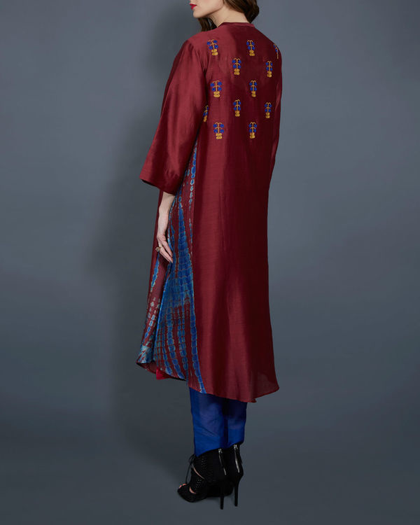 Wine tunic with embroidered front and back 3