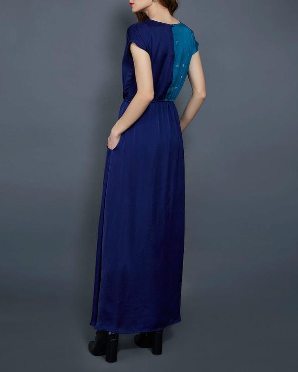 Blue colored block tunic 2