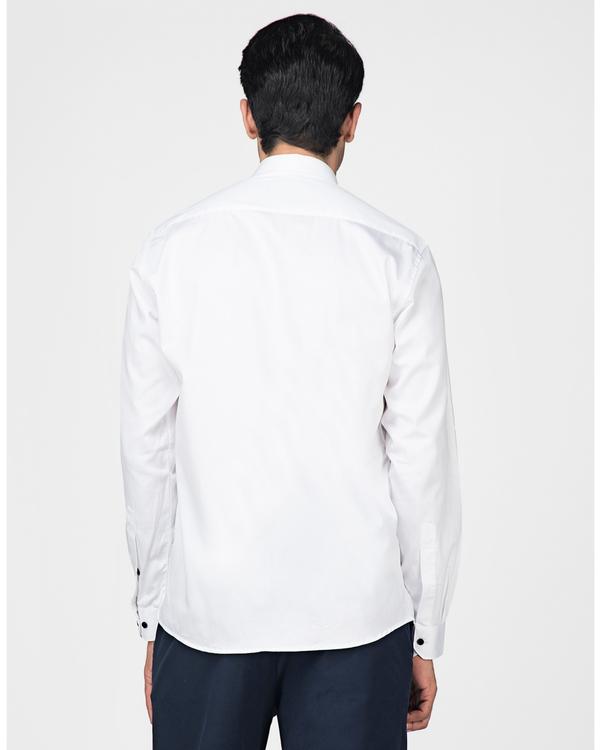 White and navy blue trigon paneled shirt 3