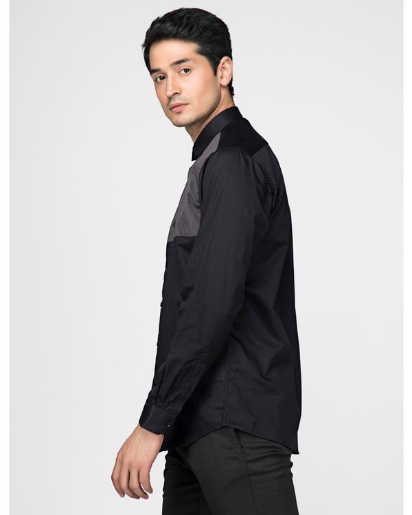 Black and grey block paneled shirt 2