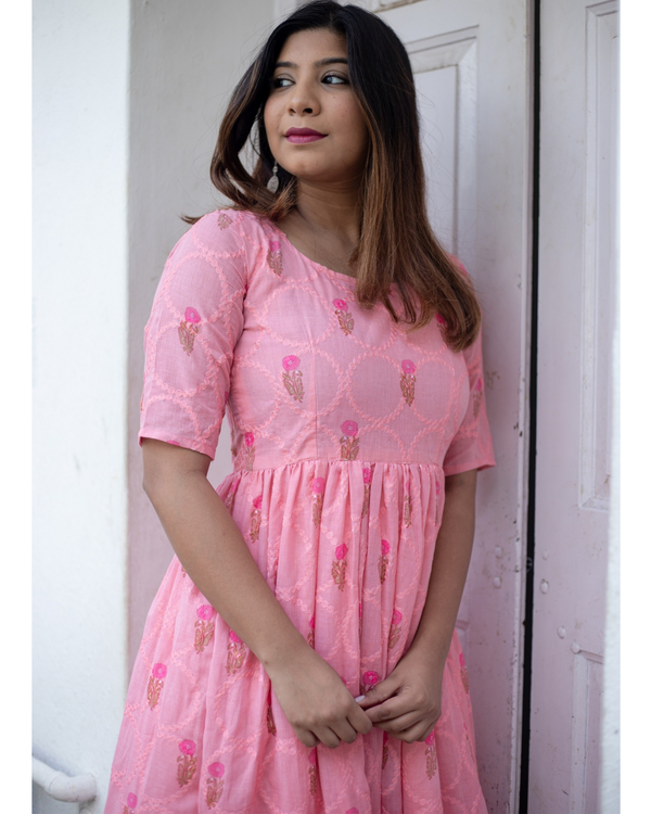 Taffy pink floral embroidered dress 2