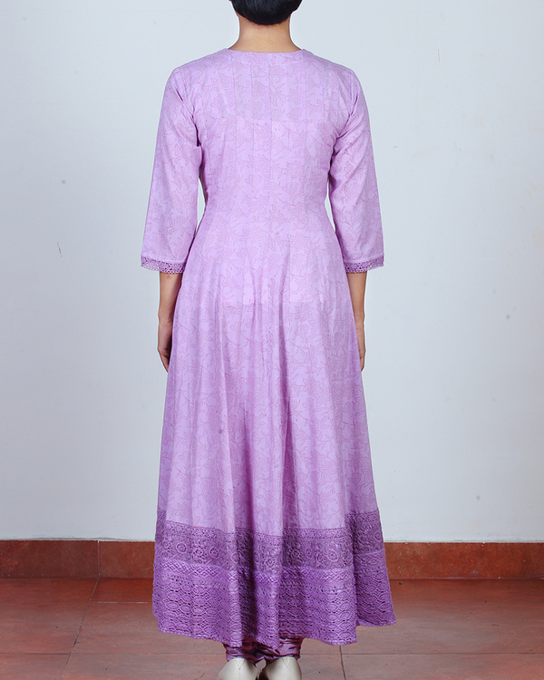 Set of Lavender Anarkali & Churidar 2