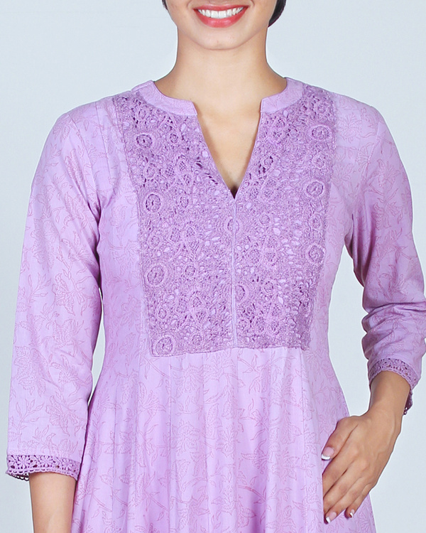 Set of Lavender Anarkali & Churidar 3