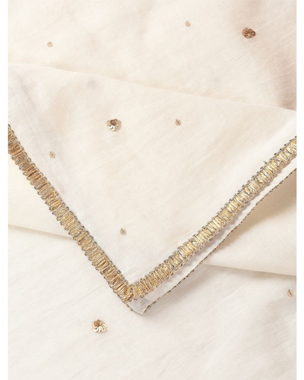 Off white sequined dupatta 1