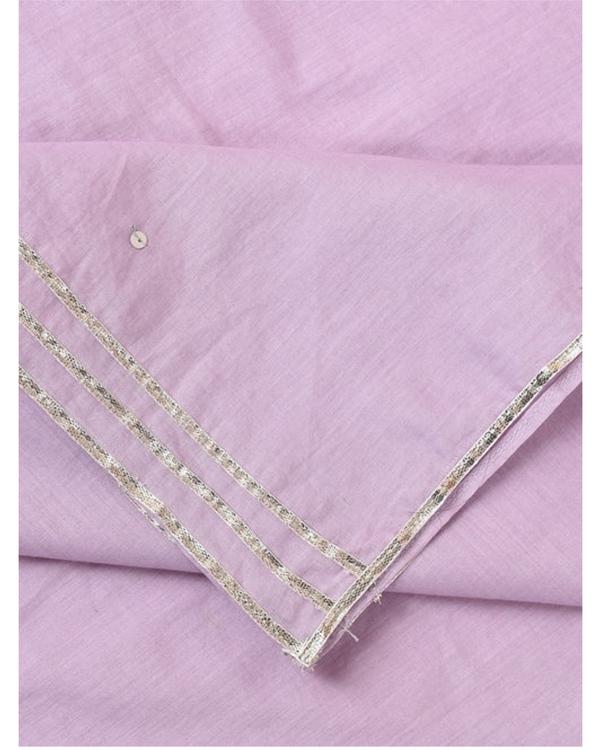 Lilac gota cotton dupatta 1