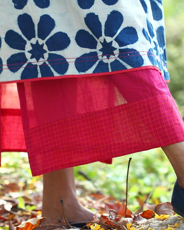 Floral printed indigo tunic 3