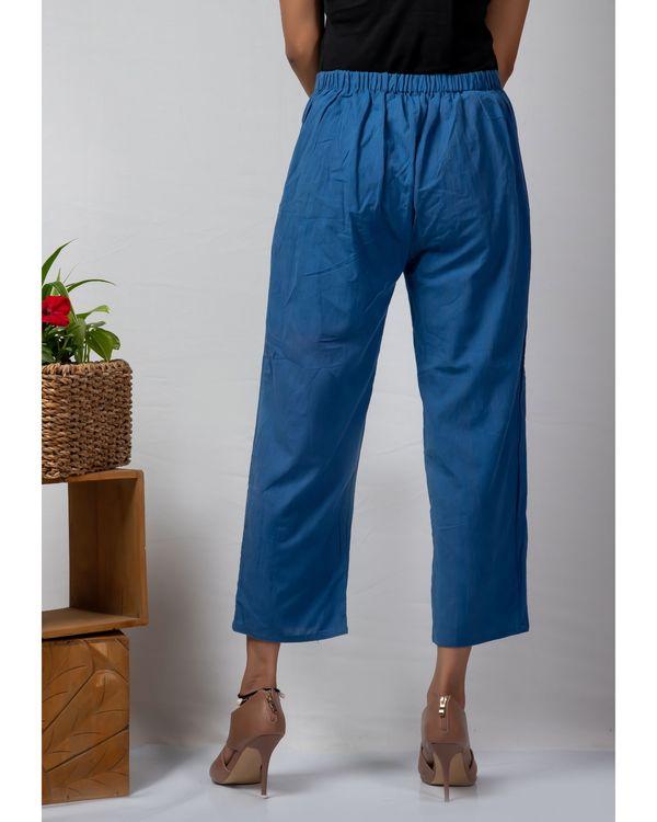Blue straight cotton pants 2