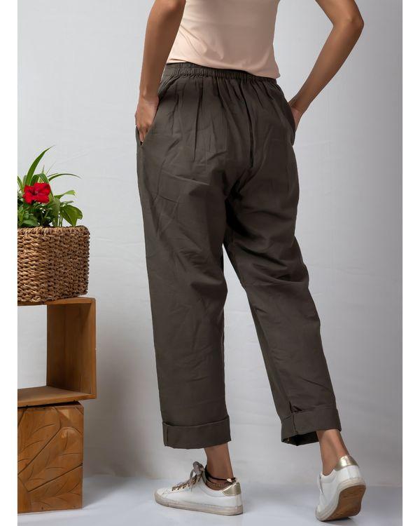 Grey rolled hem cotton pants 2