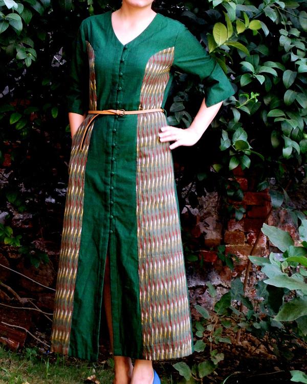 Emerald shirt dress 1