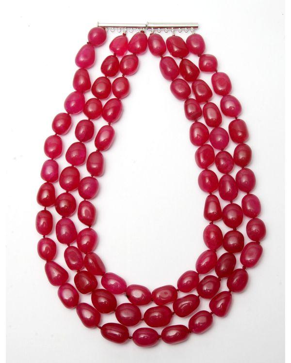 Red ruby layered neckpiece 1