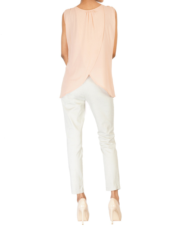 Soft pink embroidered top 1