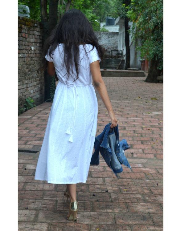 white pure chikankari cotton dress 2