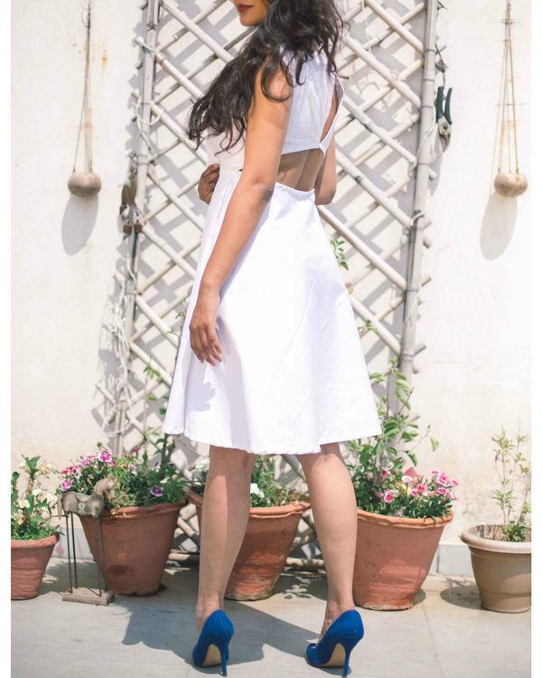 White cotton lycra Dress 1