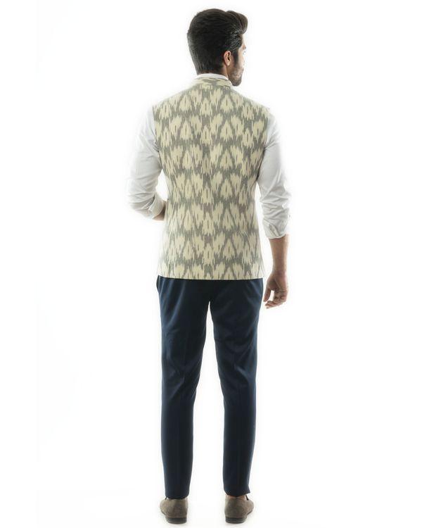 Grey and white ikat jacket 2