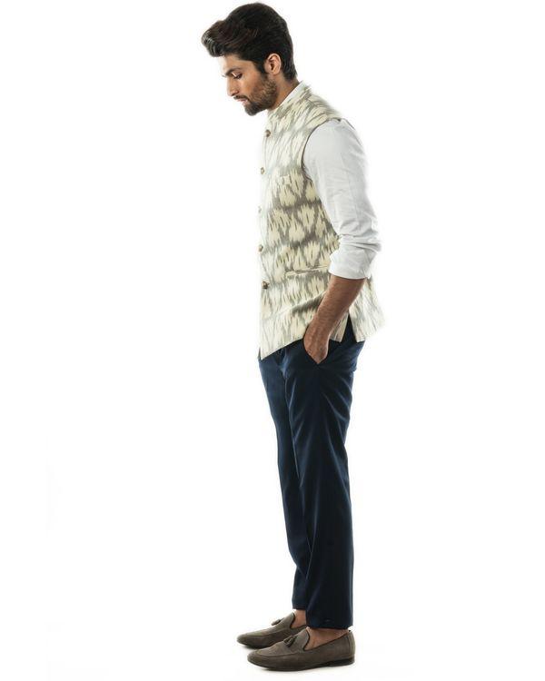 Grey and white ikat jacket 1