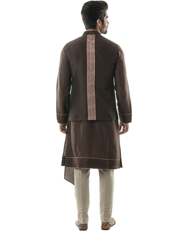 Soil brown embroidered jacket 2