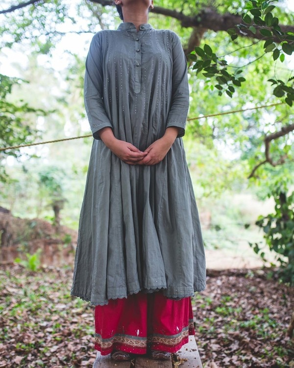 Long cotton kalidaar kurta 1