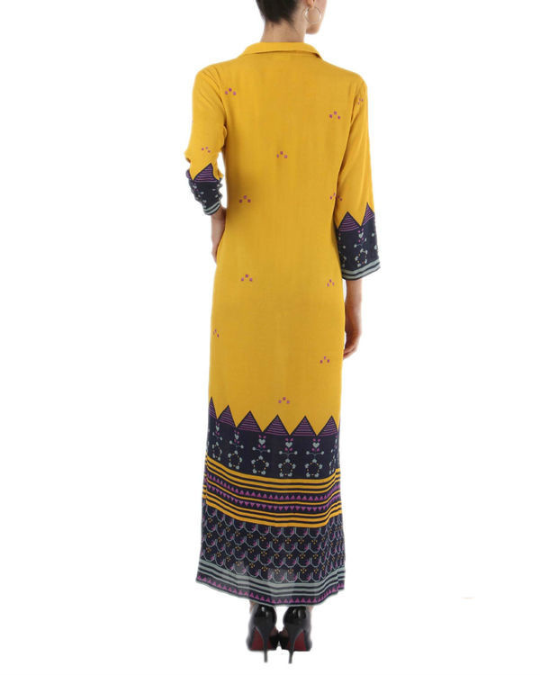 Chrome yellow long dress 1