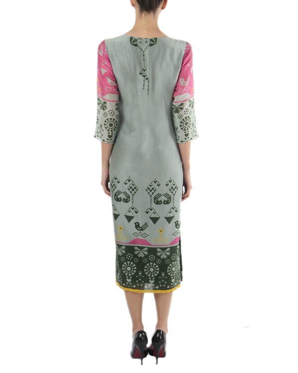 Grey ankle length dress 1