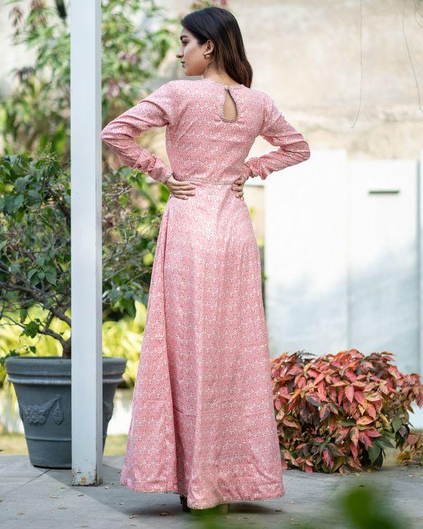 Pink boota kalidar dress 4