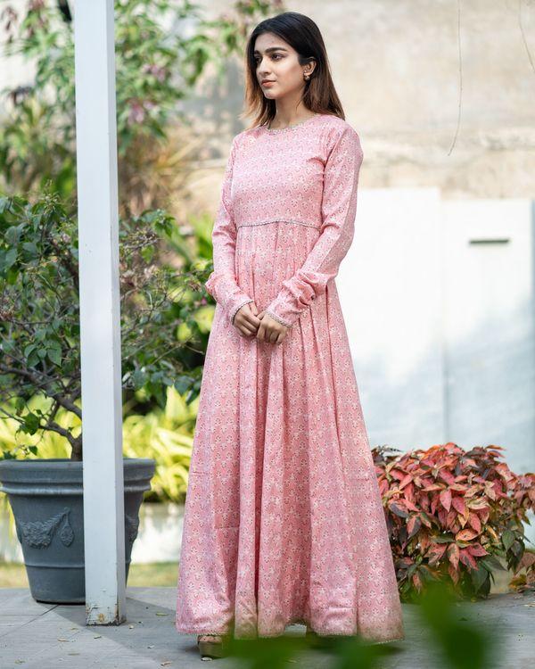 Pink boota kalidar dress 3