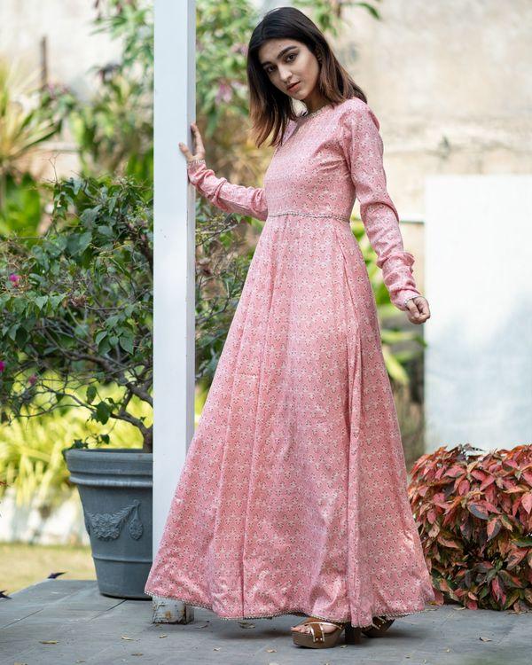 Pink boota kalidar dress 2
