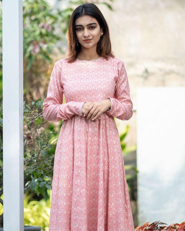 Pink boota kalidar dress 1