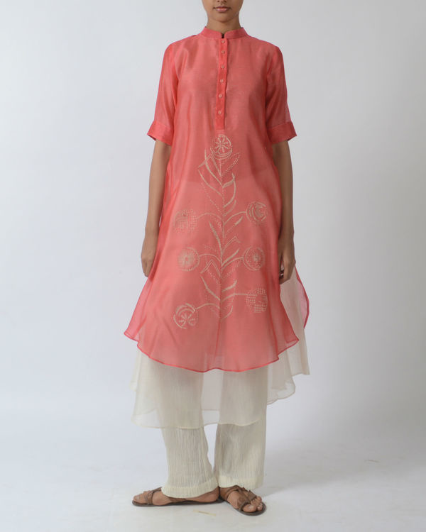 Pink double layered tunic 1