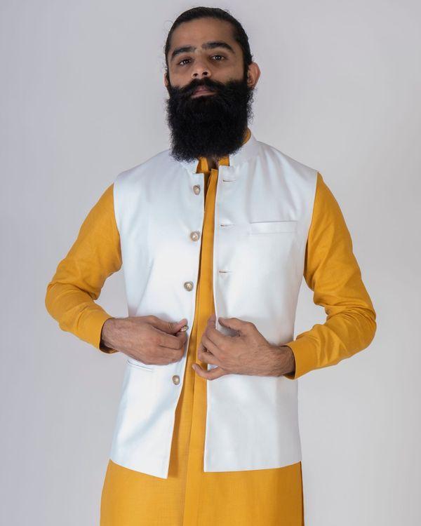 Off white nehru jacket 2