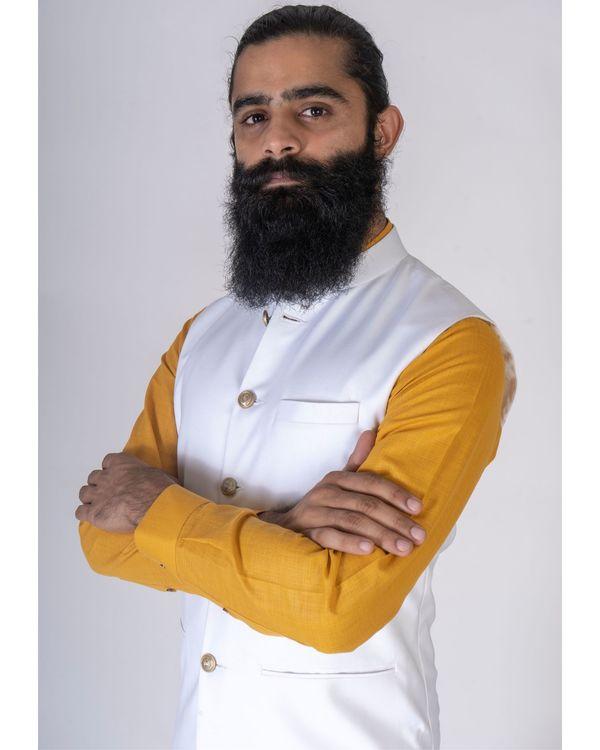 Off white nehru jacket 1