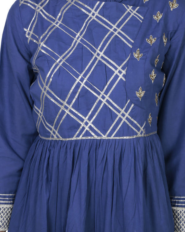 Royal blue angrakha with palazzo 2