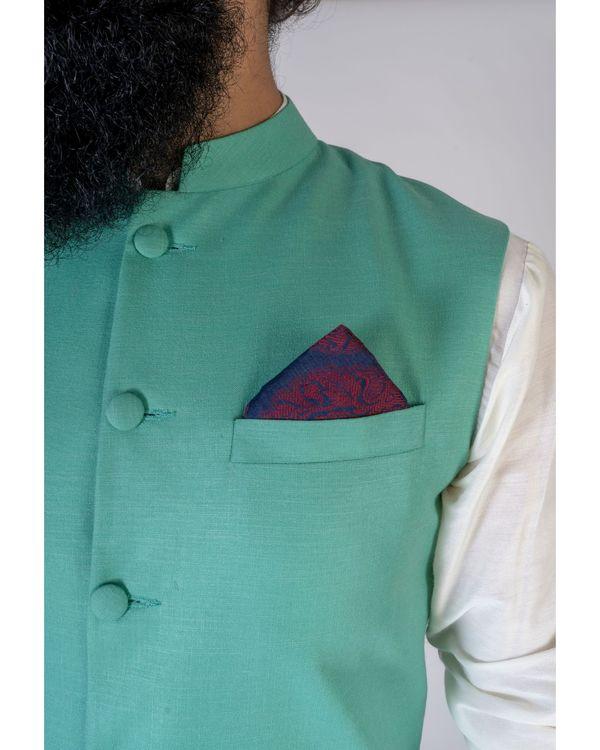 Green mandarin nehru jacket 1