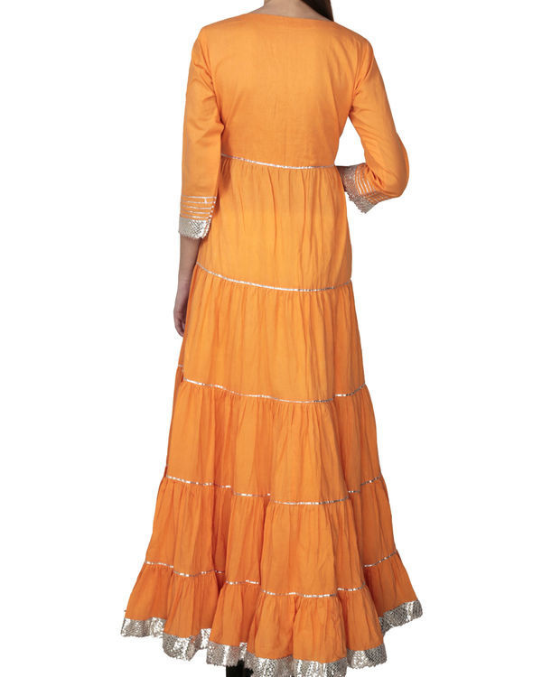 Orange angrakha with palazzo 1