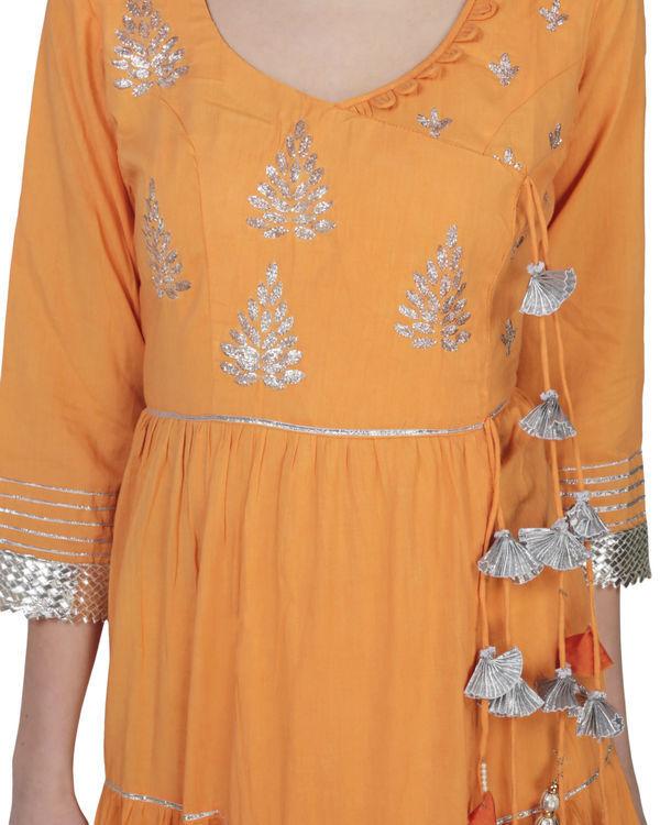 Orange angrakha with palazzo 2