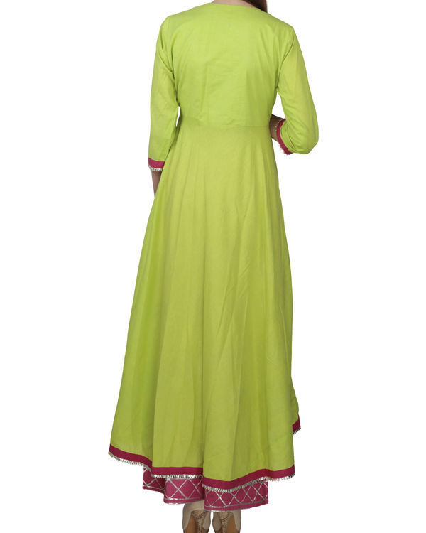 Lime green angrakha with palazzo 1