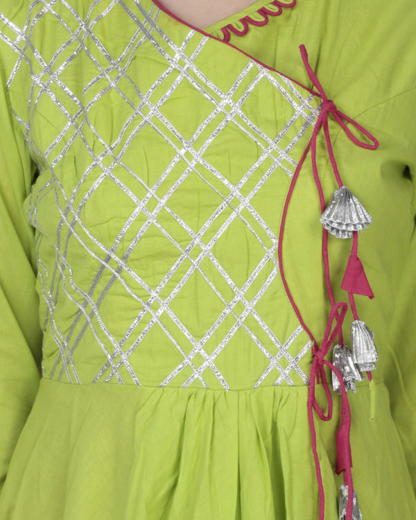Lime green angrakha with palazzo 2