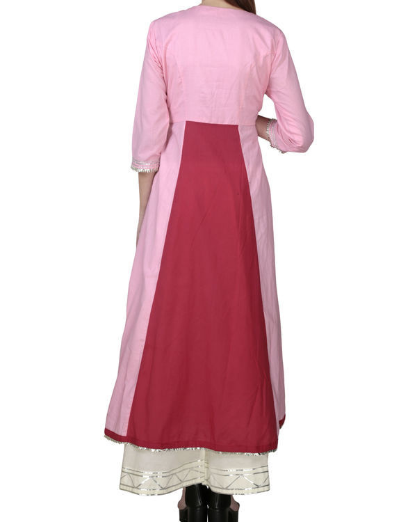 Blush pink angrakha with palazzo 1