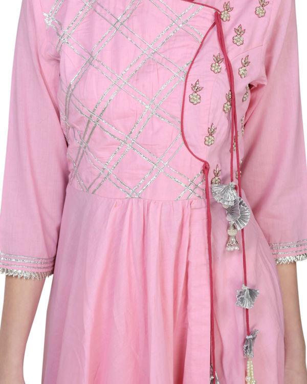 Blush pink angrakha with palazzo 2