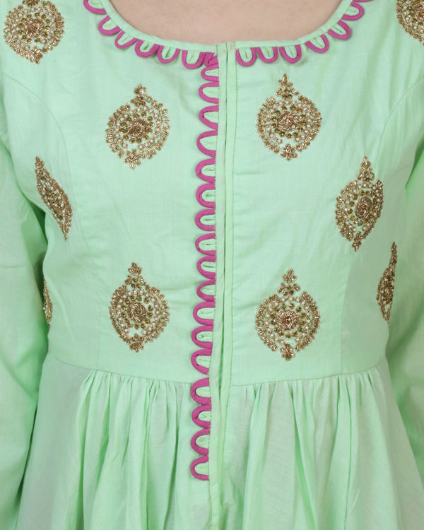 Mint high low tunic with palazzo 2
