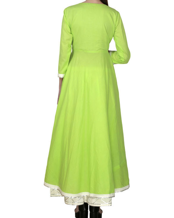 Electric lime angrakha with palazzo 1