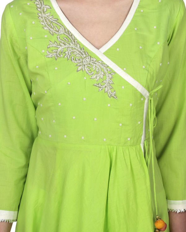 Electric lime angrakha with palazzo 2
